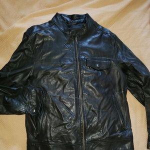banana republic leather large jacket unisex ok